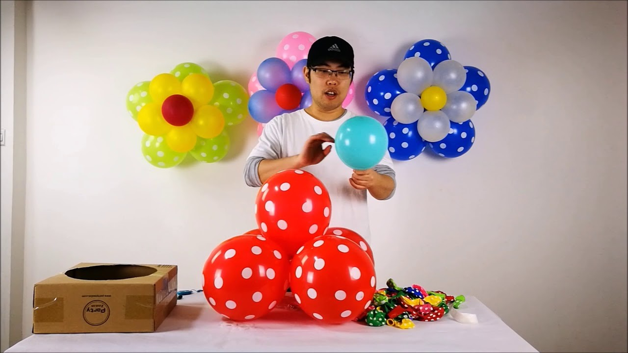 DIY Balloon Flower by Party Zealot