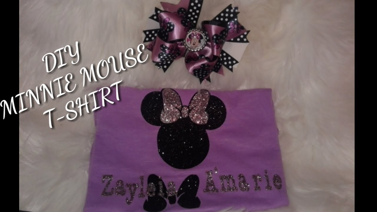 DIY How To Make A Minnie Mouse T-shirt Easy. With Cricut