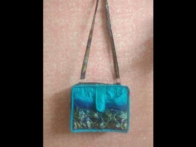 DIY how  to sew stylish sling bag. side bag. cross body bag
