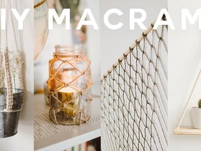 DIY Macrame Room Decor 2018 ????Boho + Anthropologie (Wall Hanging, Plant Holder + MORE). Lone Fox