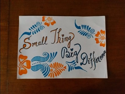 DIY || Simple, Easy & Decorative Border Design and Poster Making || Back To School《#251》