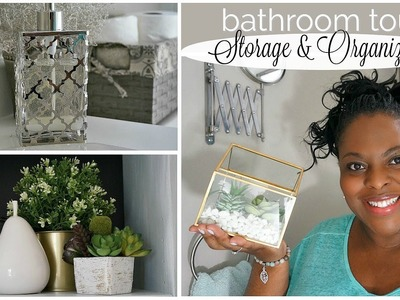 DIY | Small Bathroom Makeover Tour + Organization | Before and After!