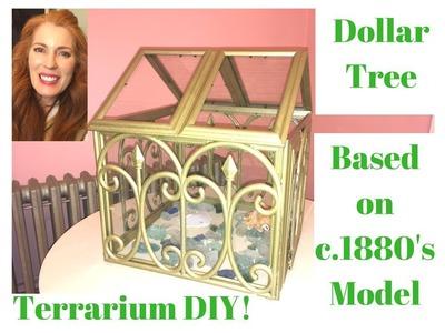 Dollar Tree Terrarium DIY Inspired by Late 1800's Victorian Ironwork Terrariums!