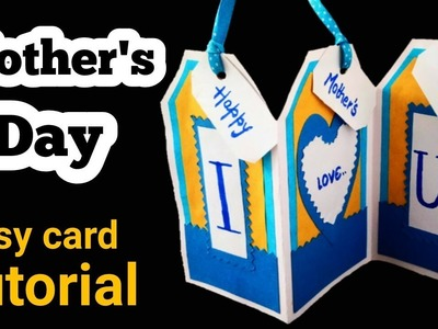 Easy Mother's Day Card Tutorial | Mother's day greeting card handmade |