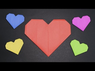Easy Origami for kids | Heart Valentine's Day | How to make