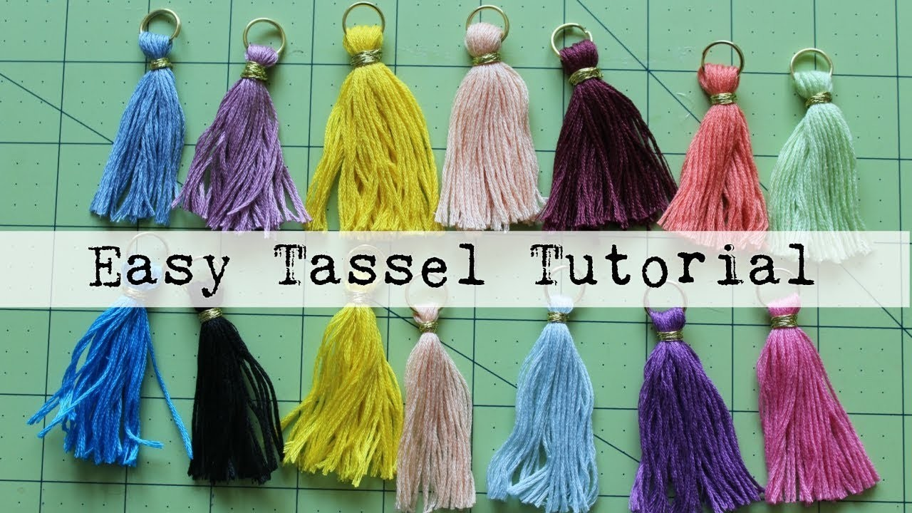 Easy Tassel Tutorial
