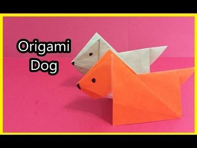 Easy to fold Origami Dog  (折り紙 犬)簡單摺紙 狗