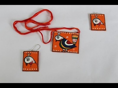 Fabric Necklace and Ear Ring Making Tutorial | Ananya Mondal