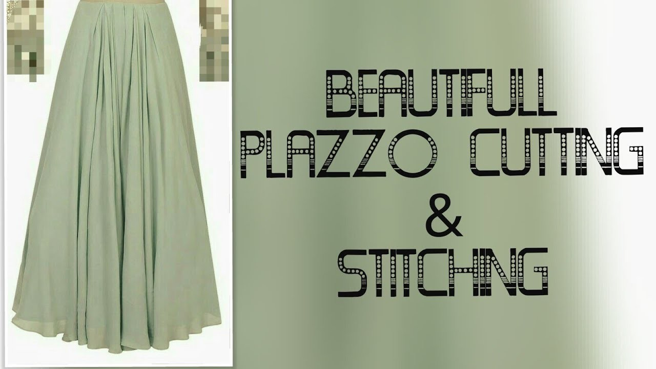 Fancy Floral Umbrella Trouser Palazzo Pants Stiching Cutting Tutorial
