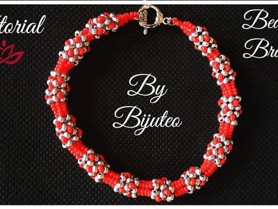 Gorgeous Beaded Bracelet - Chenille Stitch Tutorial