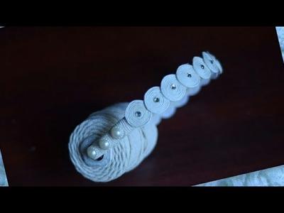 Hairband piping thread. hair accessories. Handmade.DIY