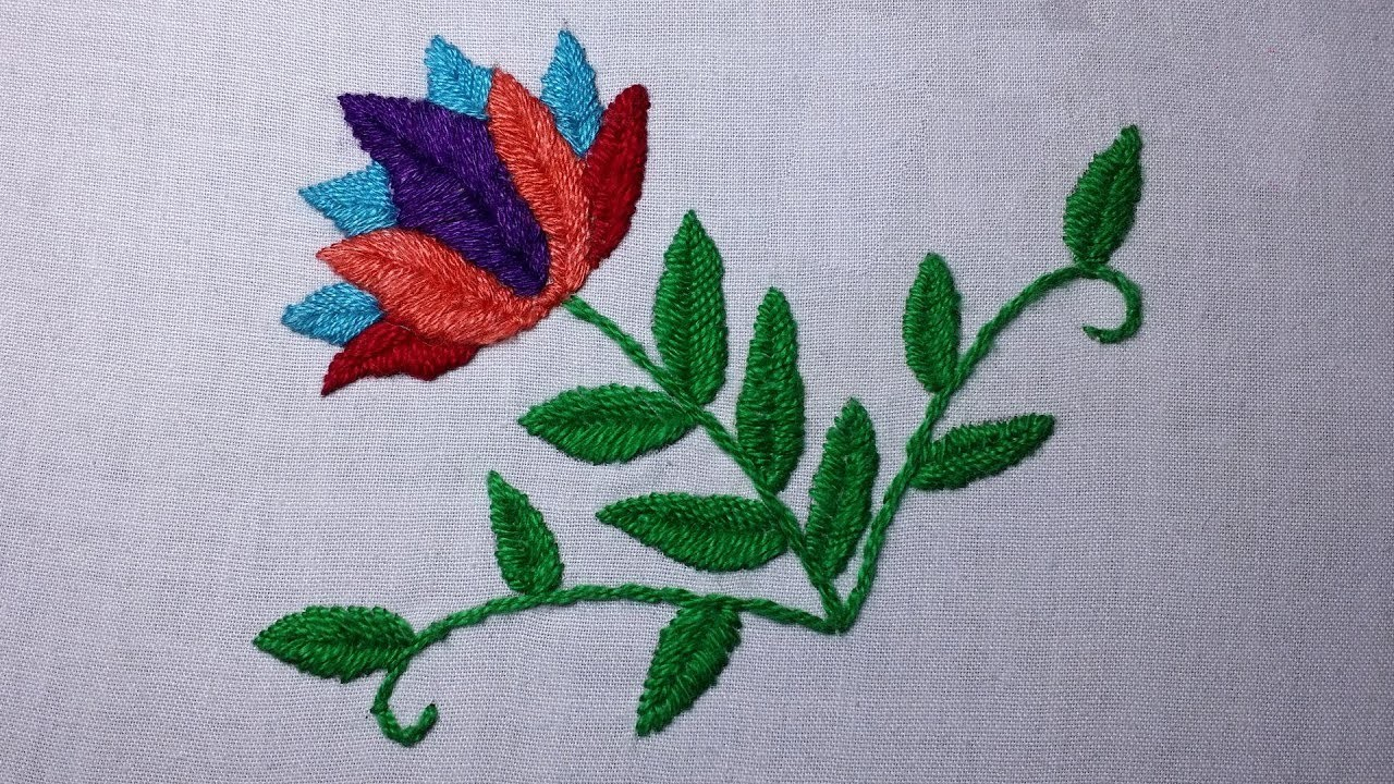 Images of Fishbone Stitch Embroidery - #rock-cafe