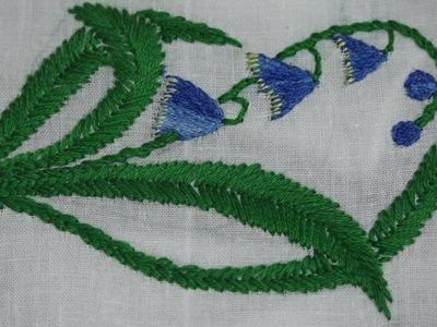 Hand Embroidery : Satin Stitch, Twisted Chain Stitch & Fish Bone Stitch