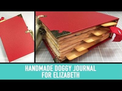 Handmade Doggy Themed Journal for Elizabeth
