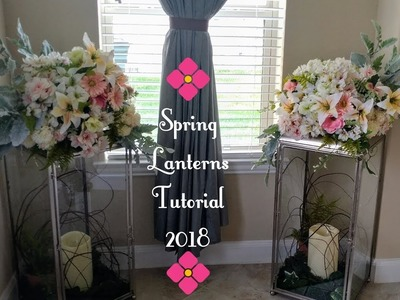 How To Decorate  Large Candle Lantern~Spring Tutorial~