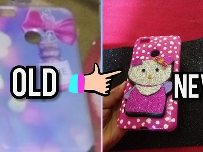 How to design a hello kitty back cover at home without any cost using nail polish????.DIY in tamil