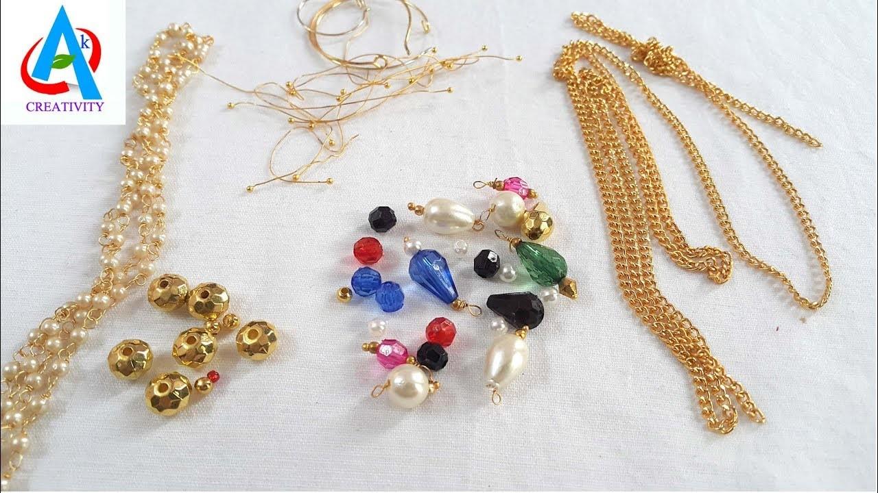 How to make 9 awesome earrings using pearls. simple earrings making tutorial. diy