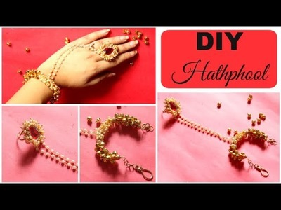 How to make a Hathphool at home | DIY Hathphool using Pearl Loreals & Ghungroos