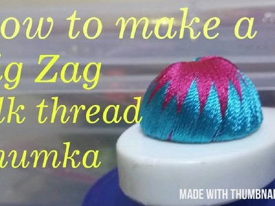 How to make a silk thread zig zag silk thread jhumka. diy by Mayil