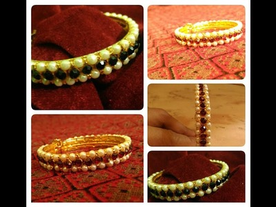 How to Make beaded bangle .  Complete Tutorial.