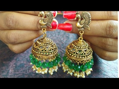 How To Make Easy DIY Earrings Jhumkas. DIY Metal Jhumkas Earrings at home