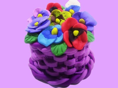 How to make Flowers Cake with PlayDoh - DIY Flowers Cake With PlayDoh Learning Video For Kids