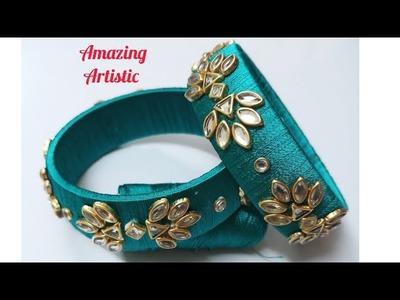 How to make silk thread bangles.silk thread bangles DIY. Amazing Artistic