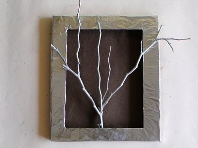 How to reuse waste box. DIY Decor - Modern Wall Art Frame