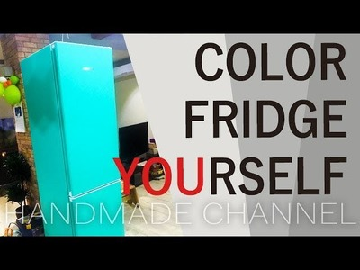 How to Wrap your Fridge? Colored Refrigerator DIY - Handmade Channel