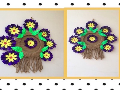 Origami Jute N Origami Flower Flowers Wall Hanging Best Out Of