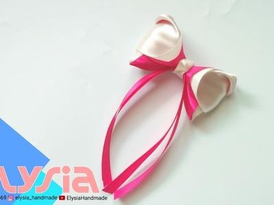 Laço Clara ???? Clara #Ribbon Bow ???? DIY By Elysia Handmade