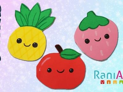 Libretitas con forma de Frutas Kawaii - DIY - FÁCILES - EASY FRUIT NOTEBOOKS