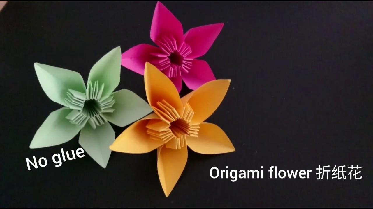 Origami Kusudama Flower Without Glue Flowers Healthy
