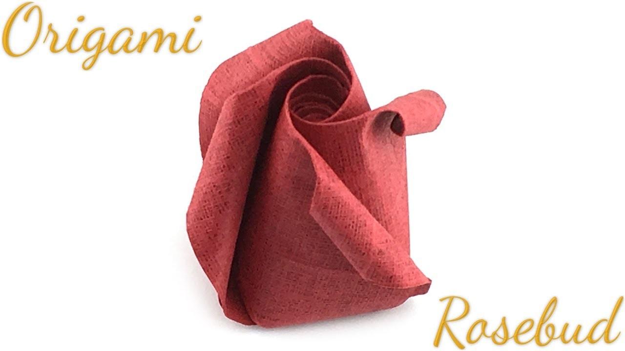 Origami Rosebud (Spiral Rose) Tutorial (Hyo Ahn)