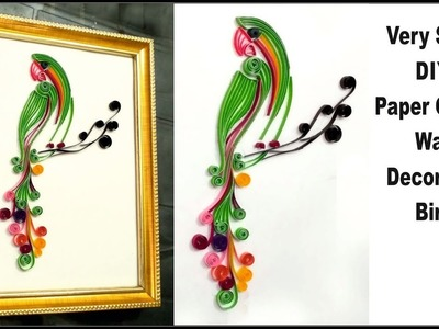 Paper quilling bird designs for decoration   paper quilling bird frame