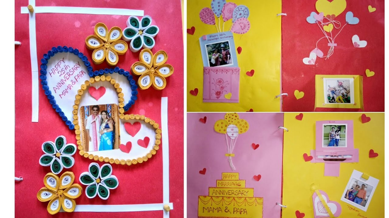 Scrapbook gift for parents    Marriage anniversary scrapbook for parents.