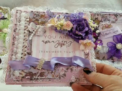 Shabby Chic Prima Lavender Mothers Day Cards for Scrapbooking With M.E.