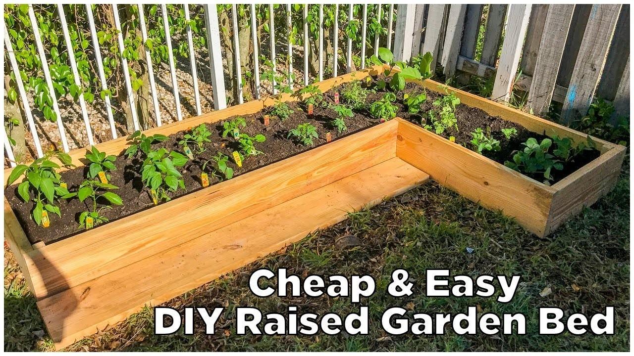 Super Easy & Cheap DIY Raised Garden Bed!