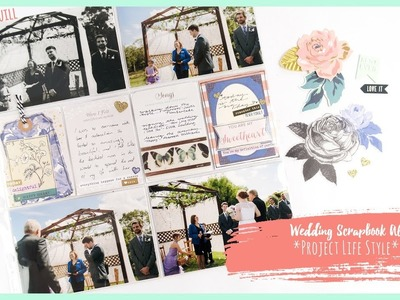 Wedding Scrapbook Album *Project Life Style* #2 + + + INKIE QUILL