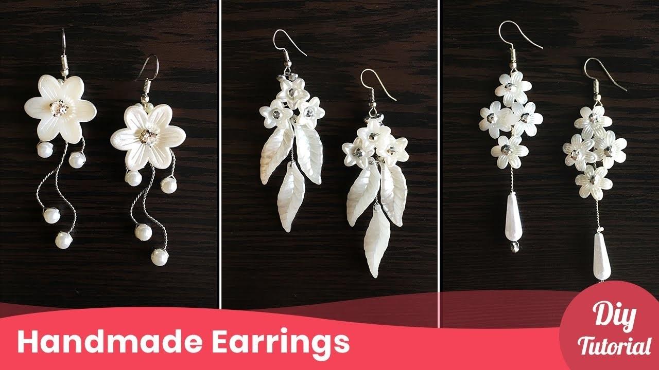 3 Simple Wedding Pearl Earrings Bridal Drop Earrings Tutorial