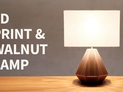 3d print & walnut lamp | How to