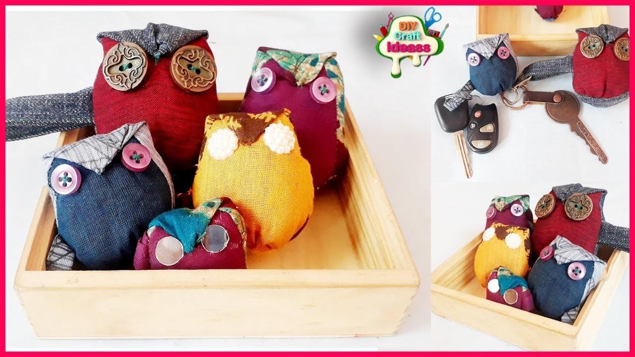 5 Best Cute Fabric Keychains Cute Fabric Owl Keychain Diy Craft Ideas