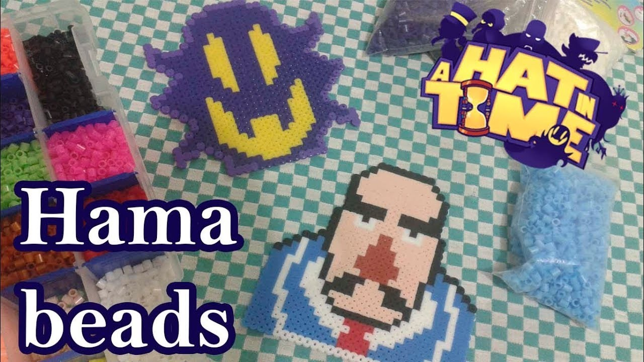 A hat in time - Hama beads (Snatcher and Mafia guy)