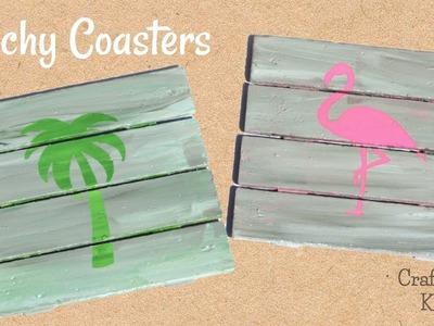 Beachy Coasters DIY ~ Another Coaster Friday ~ Craft Klatch