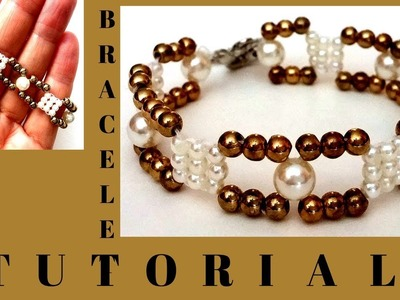 Beading tutorial for beginners.  diy bracelet.  easy beading pattern