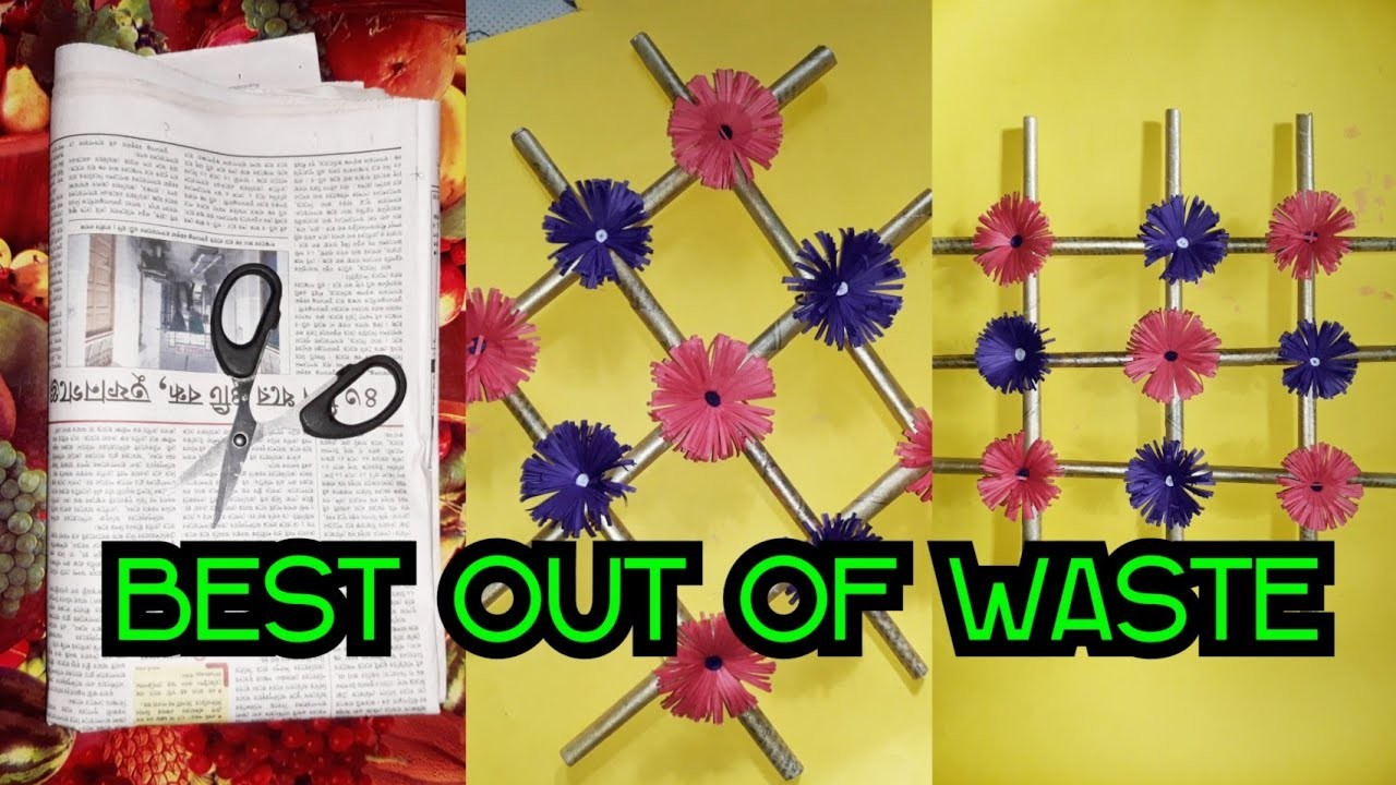 Best Out Of Waste Diy Using Old Newspapers Craft Ideas Using