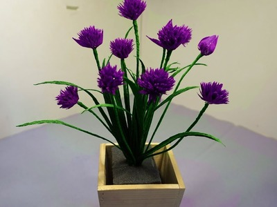 Chives Paper Flowers - Amazing and Easy Paper Craft
