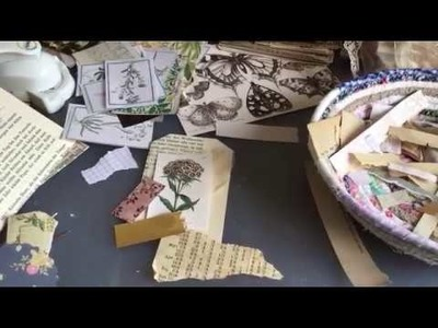 Craft with me | making tags, pockets, envelopes and ephemera | using old book pages | part 2