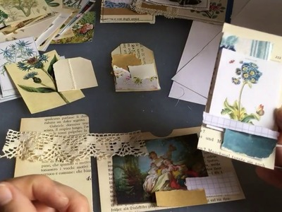 Craft with me | making tags, pockets, envelopes | with old book pages part 3