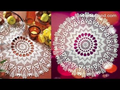 CROCHET Doily Tutorial How to crochet Part 9